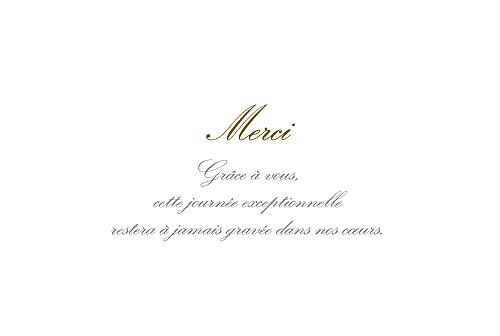 Carte de remerciement mariage Plein la vue ! (chevalet) blanc - Page 3