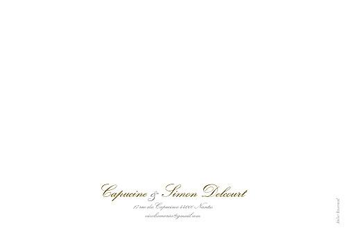 Carte de remerciement mariage Plein la vue ! (chevalet) blanc - Page 4