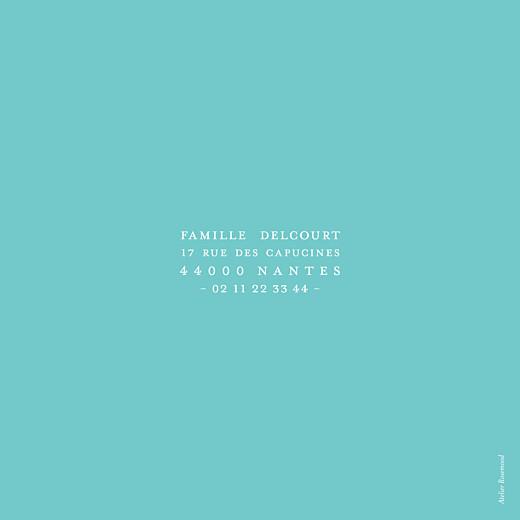 Faire-part de naissance Justifié turquoise - Page 2