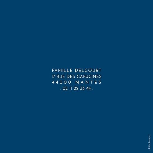Faire-part de naissance Justifié bleu nuit - Page 2