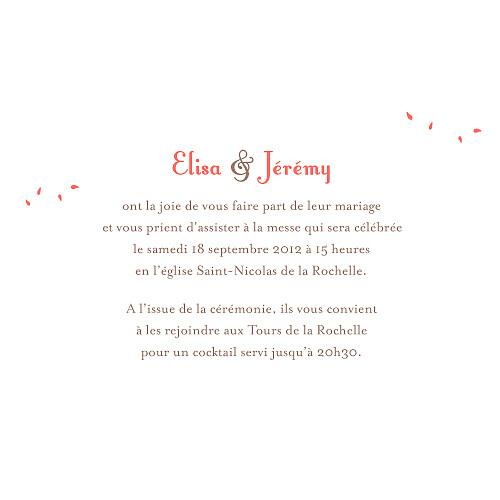 Faire-part de mariage Bouquet corail - Page 3