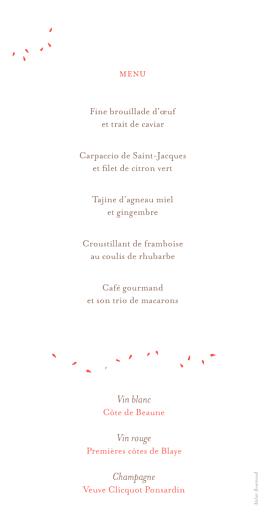 Menu de mariage Bouquet (panoramique) corail - Page 2
