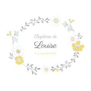 Carte de remerciement couronne de fleurs photo atelier for Livret des fleurs