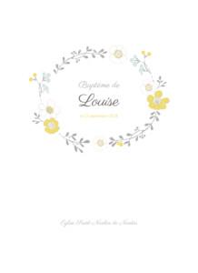 Livret de messe Couronne de fleurs ocre