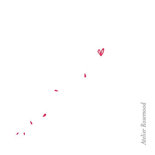 Etiquette de mariage Bouquet (carré) rouge - Page 2
