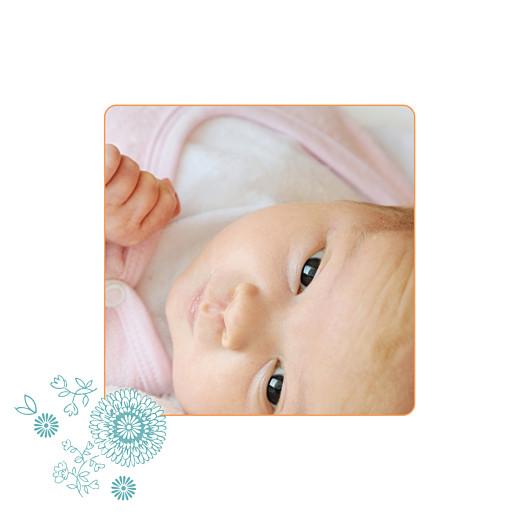 Faire-part de naissance Champetre photo multicolore