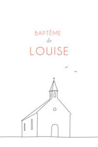 Faire-part de baptême Petite promesse blanc
