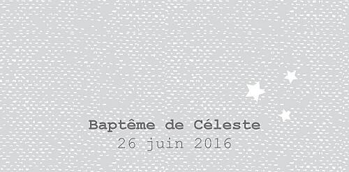 Marque-place Baptême Nuage perle