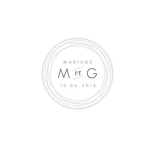 Carton d'invitation mariage Design carré blanc