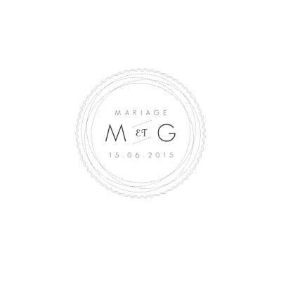 Carton d'invitation mariage Design carré blanc finition