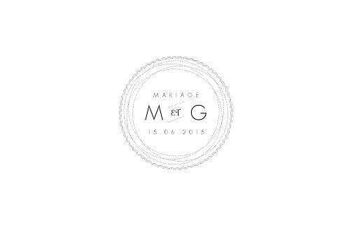 Carton d'invitation mariage Design blanc