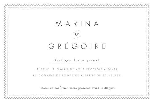 Carton d'invitation mariage Design blanc - Page 2
