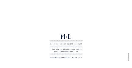 Faire-part de mariage Monogramme bleu marine - Page 4