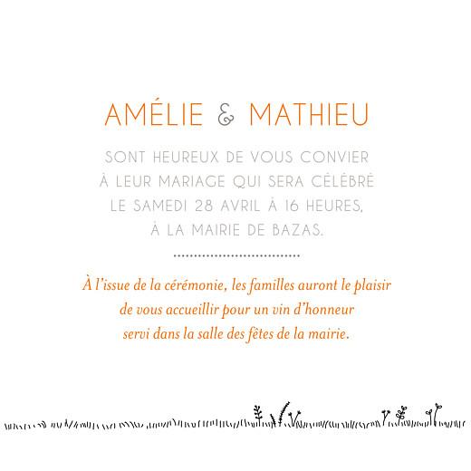 Faire-part de mariage Promesse champêtre (4 pages) blanc - Page 3