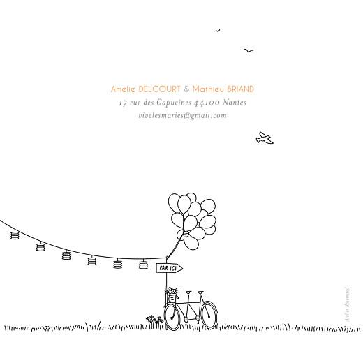 Faire-part de mariage Promesse champêtre (4 pages) blanc