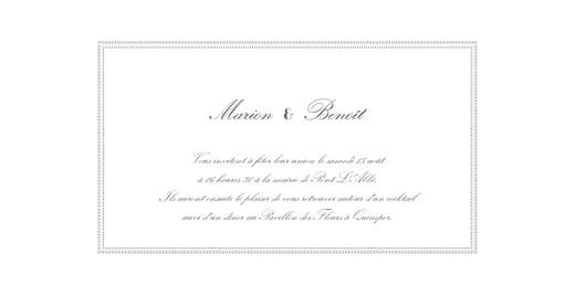 Faire-part de mariage Monogramme gris foncé