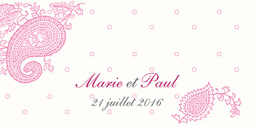 Marque-place mariage Plumetis framboise - Page 4