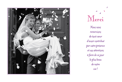 carte de remerciement mariage bouquet simple atelier rosemood. Black Bedroom Furniture Sets. Home Design Ideas