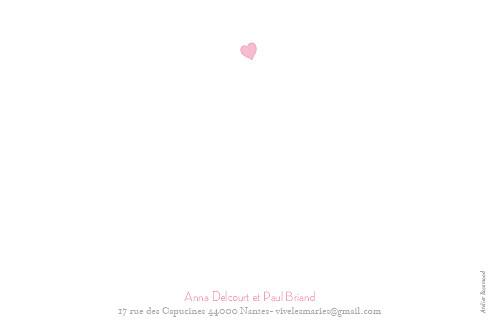 Carte de remerciement mariage Coeurs gris pâle - Page 2