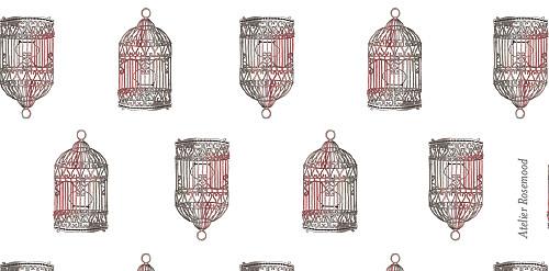 Marque-place mariage Cage à oiseaux rouge - Page 3