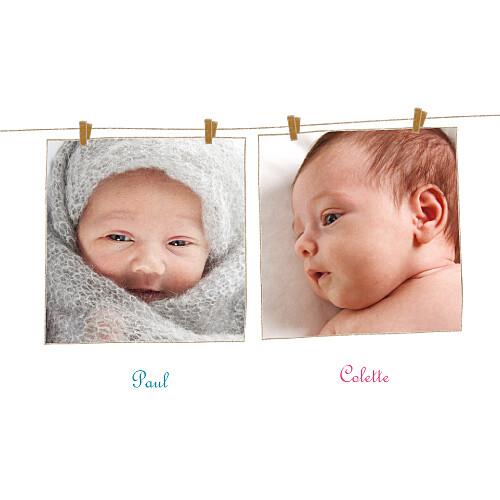 Faire-part de naissance Poétique jumeaux - Atelier Rosemood