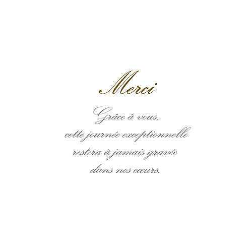 Carte de remerciement mariage Classique 6 photos blanc - Page 3