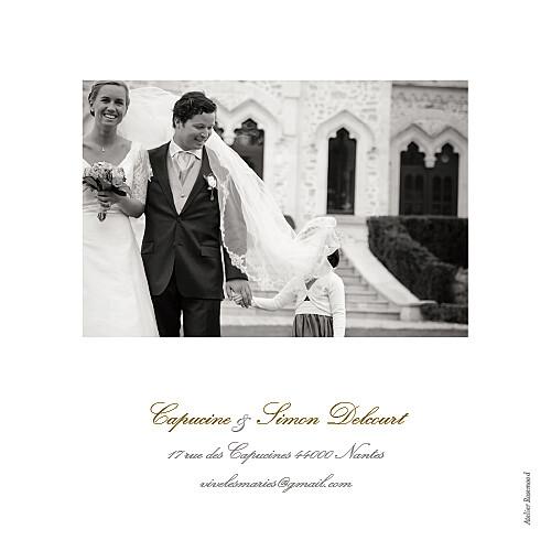 Carte de remerciement mariage Classique 6 photos blanc - Page 4
