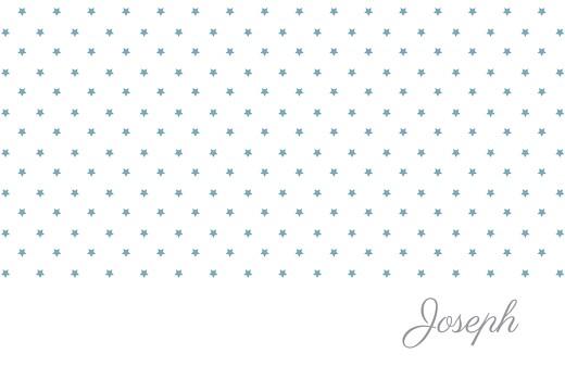 Faire-part de naissance Étoiles classique photo blanc bleu