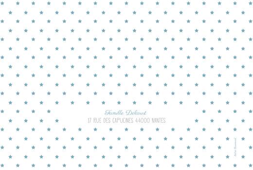 Faire-part de naissance Étoiles classique photo blanc bleu - Page 4