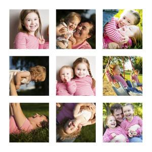 Carte de voeux Mini photos blanc