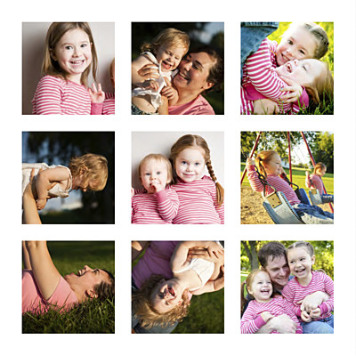Carte de voeux Mini photos blanc finition