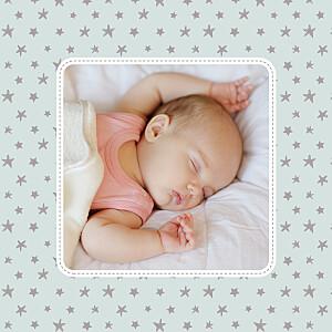 Carte de remerciement Merci nuit étoilée photo jade