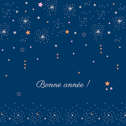 Carte de voeux Étoiles bleu nuit rose