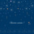 Carte de voeux Étoiles bleu nuit rose - Page 1