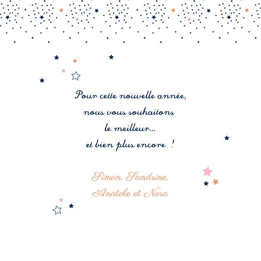 Carte de voeux Étoiles bleu nuit rose - Page 3