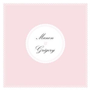 Faire-part de mariage dentelle gourmand rose