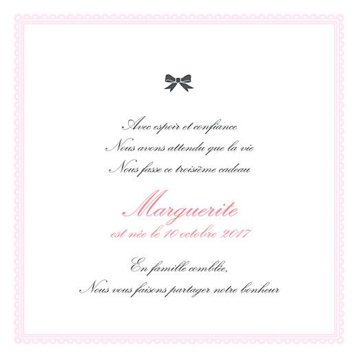 Faire-part de naissance Versailles photo rose