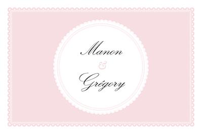 Carton d'invitation mariage Gourmand rose finition
