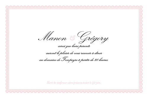 Carton d'invitation mariage Gourmand rose - Page 2