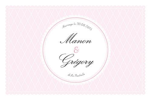 Carton d'invitation mariage Gourmand raffiné rose