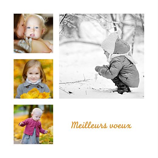 Carte de voeux Classique 6 photos blanc