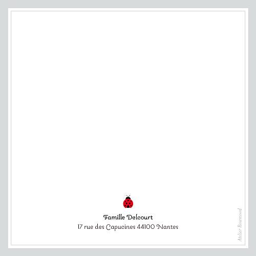 Carte de remerciement Petite coccinelle gris - Page 2