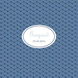 Faire-part de naissance Pattern écusson bleu