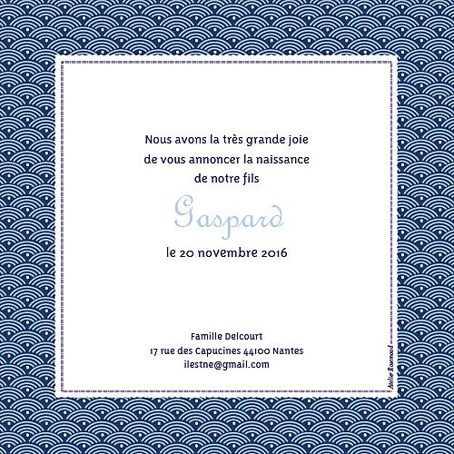 Faire-part de naissance Pattern écusson bleu - Page 2