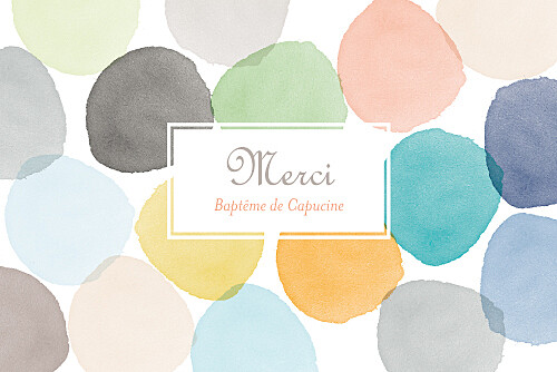 Carte de remerciement Merci aquarelle orange