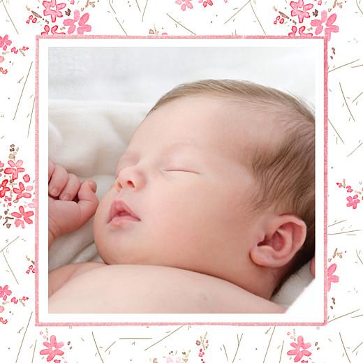 Carte de remerciement Petites fleurs des champs photo rose - Page 2