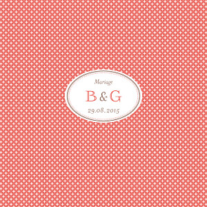 Faire-part de mariage automne motif chic (4 pages) corail
