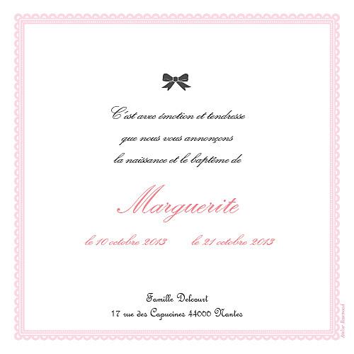 Faire-part de naissance Versailles rose