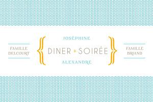 Carton d'invitation mariage Accolades bleu