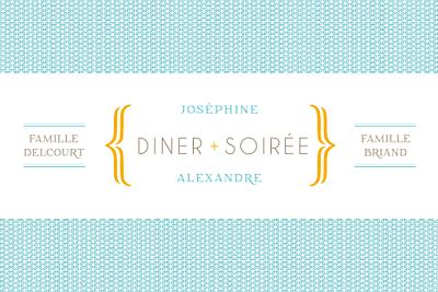 Carton d'invitation mariage Accolades bleu finition